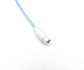 Stainless steel wire chain - blauw