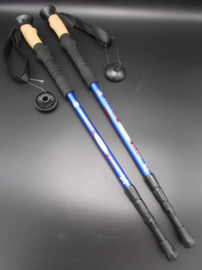 Jungle Leopard - Nordic walking stick - wandelstok - blauw - 125cm - set