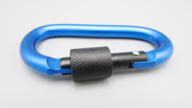 EDC gear - carabiner - blue with black