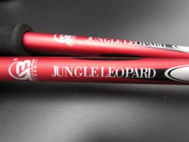 Jungle Leopard - Nordic walking stick - wandelstok - rood - 125cm - set