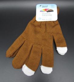 Damen Handschuhe - Touch Handschuhe - braun