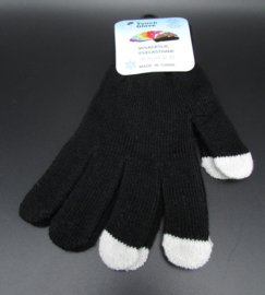 Dames handschoenen - touch gloves - zwart, nr.2