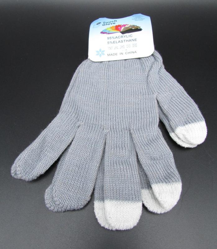 Dames handschoenen - touch gloves - grijs