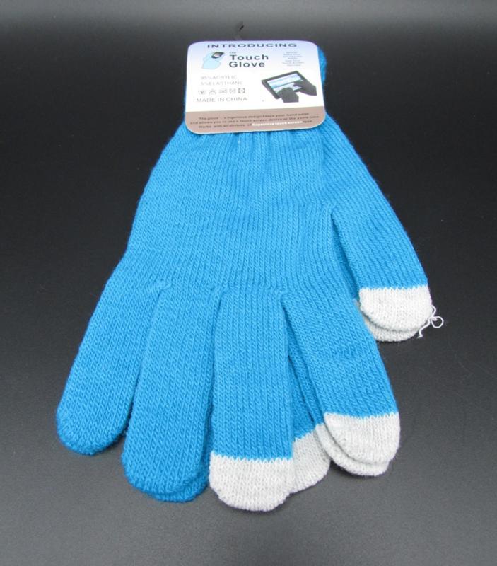 Dames handschoenen - touch gloves - blauw