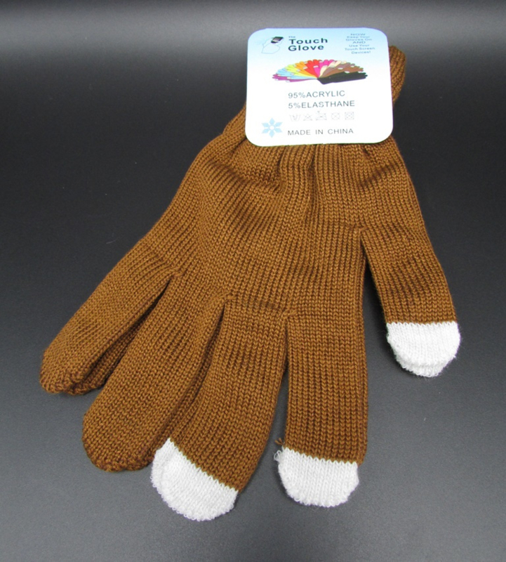 Dames handschoenen - touch gloves - bruin