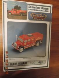 Scheiber-Bogen  modelbouwplaat `brandweer Circus Roncalli`