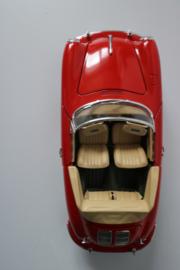Porsche 356B carerra, rood , Burago 1:18