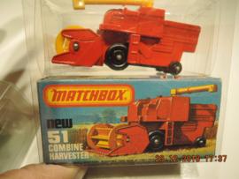 Matchbox new no. 51 Combine Harvester