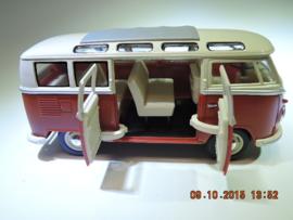 Kinsmart,  VW samba bus rood/wit