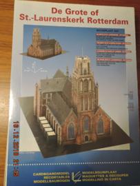 Scheiber-Bogen  modelbouwplaat  St. laurenskerk Rotterdam
