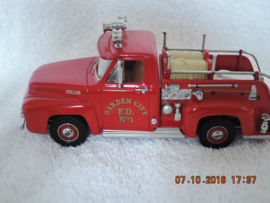 YFE14 Matchbox-brandweer Fire Ford-pick-up uit 1953