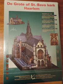 Scheiber-Bogen  modelbouwplaat  ST. Bavo kerk Haarlem