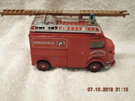 YFE 13 1/43 Matchbox Fire - Brandweer Citroen Type H Van Longueville Pompiers. Mint, in doos.