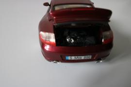 Porsche 996 Turbo, maroon special kleur, Burago. 1:18
