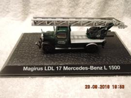 Brandweer magazine models: Magirus LDL 17 Mercedes-Benz L 1500