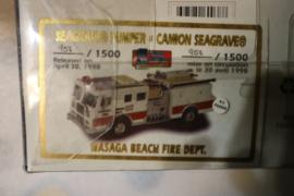 Code 3 Wasaga Beach FD Camion Seagrave Pumper (60038)