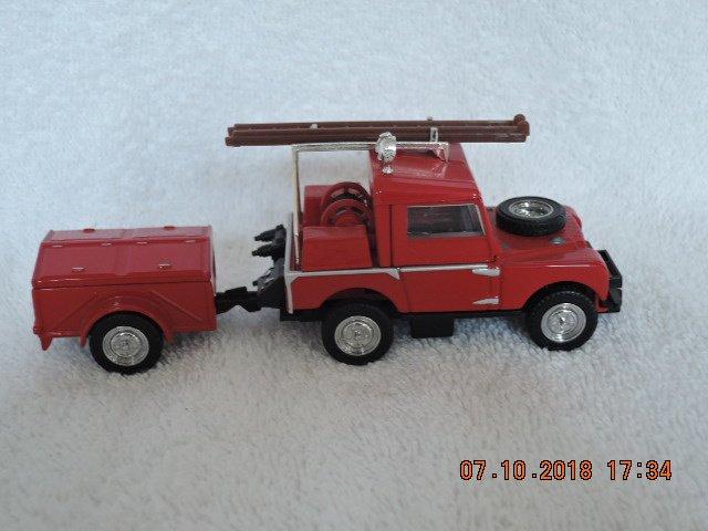 Matchbox Diecast Fire Engine- brandweer- serie YFE02 1952 Land Rover