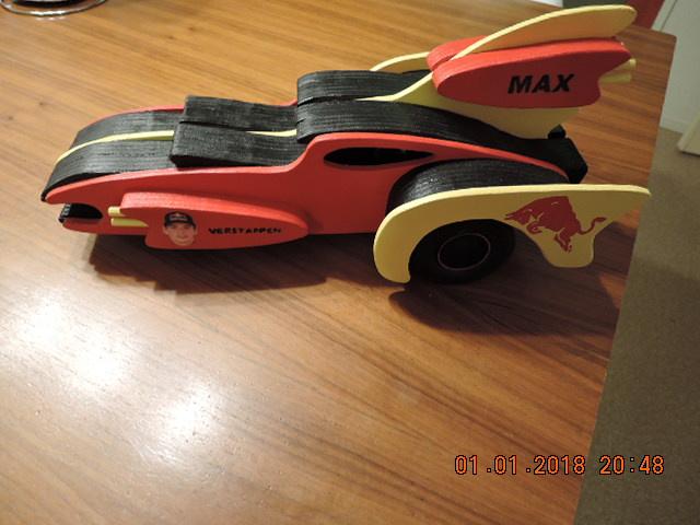Houten speelmodel F1, Max Verstappen