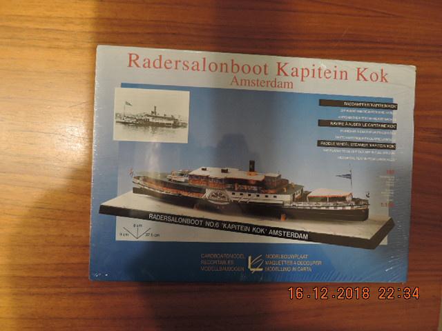 "Scheiber-Bogen modelbouwplaat ""Radarsalonboot Kaptein Kok """