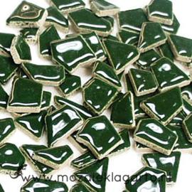 Keramiek Puzzelstukjes per 100 gram Donkergroen 014