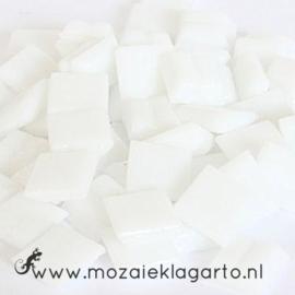 Basis  glastegeltjes 1 x 1 cm per 50 gram Wit 001
