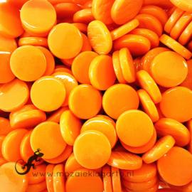 Glastegel Rond 18 mm per 50 gram Oranje 104