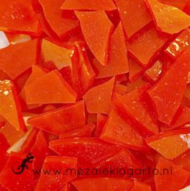 Gekleurde glasscherven  Wispy Oranje Y358w