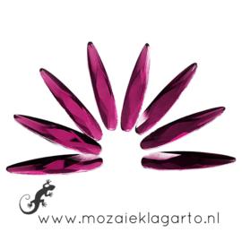 Glas facet geslepen druppel 6x30 mm per 8  Violet 903