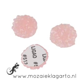 Glas facet geslepen rond Swarovski 16 mm per 2 roze 20138