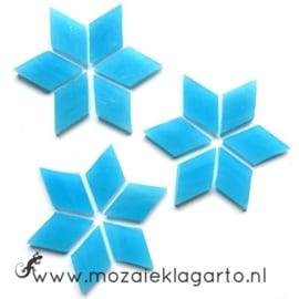 Wybertjes/Ruitjes 15x25 mm per 20 Aqua 061-2