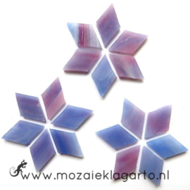 Wybertjes/Ruitjes 15x25 mm per 20 Paars/Roze 033-2
