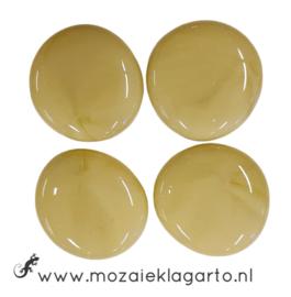 Glas Nugget 30-38 mm per 4 Opaal Ivoor 4524