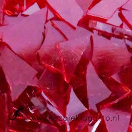Gekleurde glasscherven Rood Transparant CAG007t