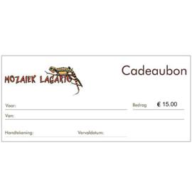 Cadeaubon € 15.00