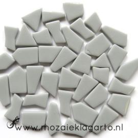 Mozaiek puzzelstukjes Glas 100 gram Lichtgrijs 043