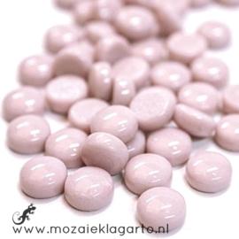 Glasdruppel Rond 12 mm per 50 gram Pastel Roze 009