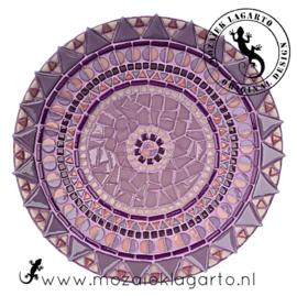 Mozaiekpakket 18 Schaal Bistro Paars/Lila/Roze