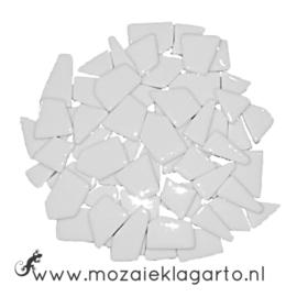 Mozaiek puzzelstukjes Glas 100 gram Wit 040
