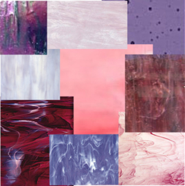 Glasplaten/Glasscherven Roze - Paars