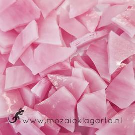 Gekleurde glasscherven Semi Translucent Roze - Wit Y71700800st