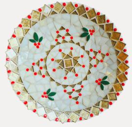 Mozaiekpakket 66 Kerstschaal