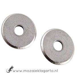 Vervangwieltjes voor de Basis glas mozaiektang-wieltjestang