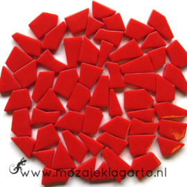 Mozaiek puzzelstukjes Glas 100 gram Rood 107