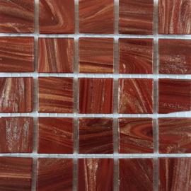 Goudader glastegels Bordeaux per 25 tegels 076