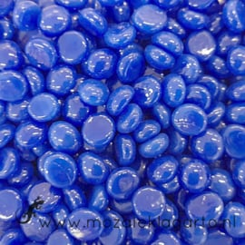 Glas Nugget Mini 9-13 mm Opaal 50 gram Blauw 4354