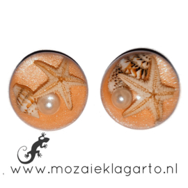 Decoratiesteen kunsthars Strand 20 mm per 2 Licht Oranje 53086
