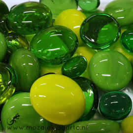 Glas Nugget 9-22 mm Mix 150 gram Groen 605