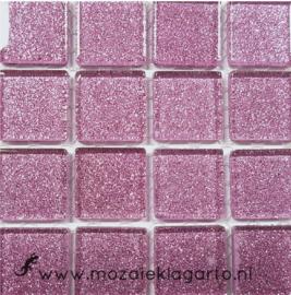 Glitter 2x2 cm per 16 tegels Roze 032