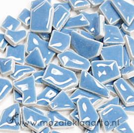 Keramiek Puzzelstukjes per 100 gram Lichtblauw 020