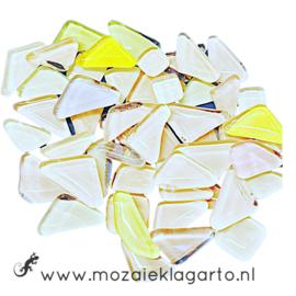 Mozaiek puzzelstukjes Soft Glas 100 gram Pastel Mix 301